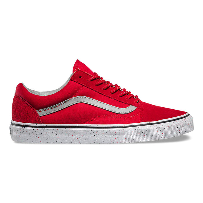 Vans Old Skool Speckle Shoes-Racing Red/Drizzle