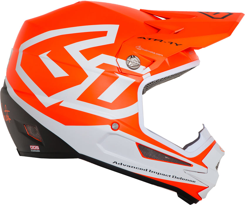 6D ATR-1Y Macro Youth BMX Racing Helmet-Matte Neon Orange