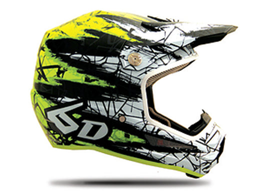 6D ATR-1Y Youth Helmet-Chaos Yellow