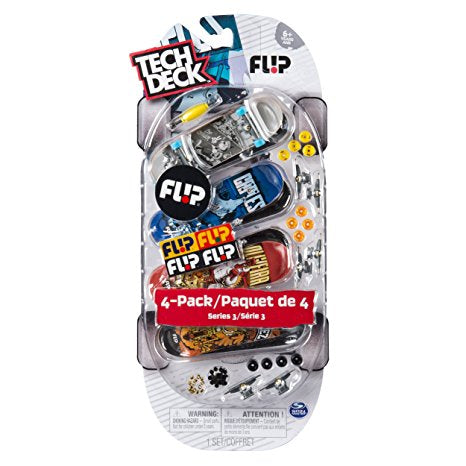Tech Deck Mini Skateboard-Flip Series 7-4 Pack