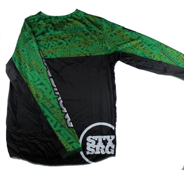Stay Strong Mash Up Race Jersey-Green/Black