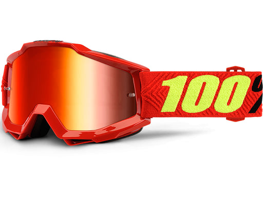 100% Accuri Goggles-Saarinen-Mirror Red Lens  - J&R Bicycles BMX Super Store