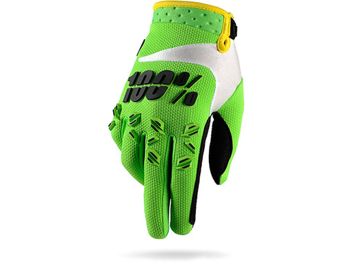 100% Airmatic Glove-Lime Green  - J&R Bicycles BMX Super Store