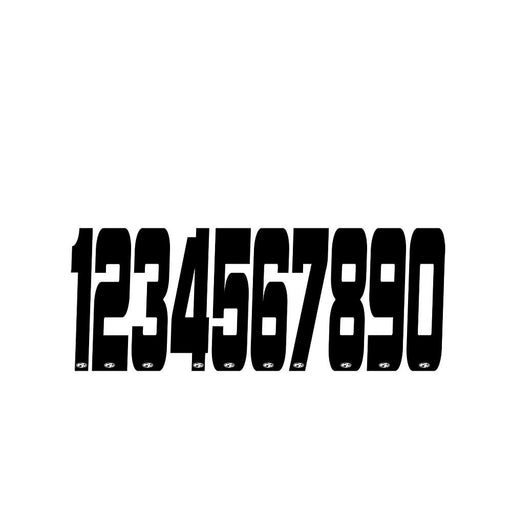 Answer BMX Plate Numbers-2""