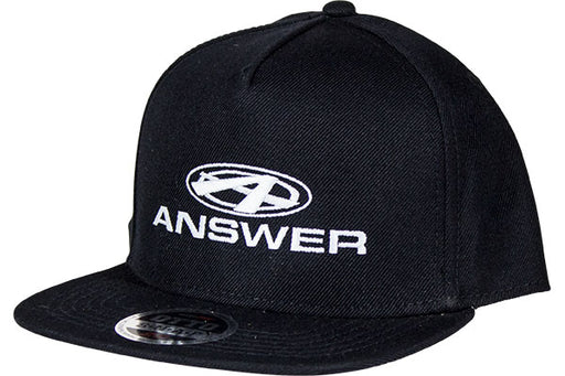 Answer Snap Back Hat-Black