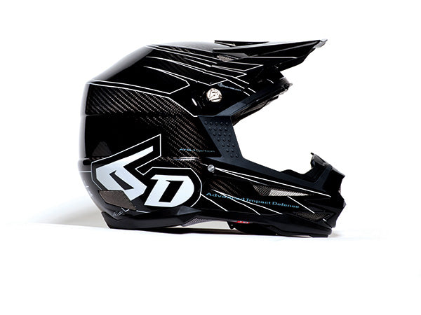6D ATB-1 Carbon Attack Helmet-Black