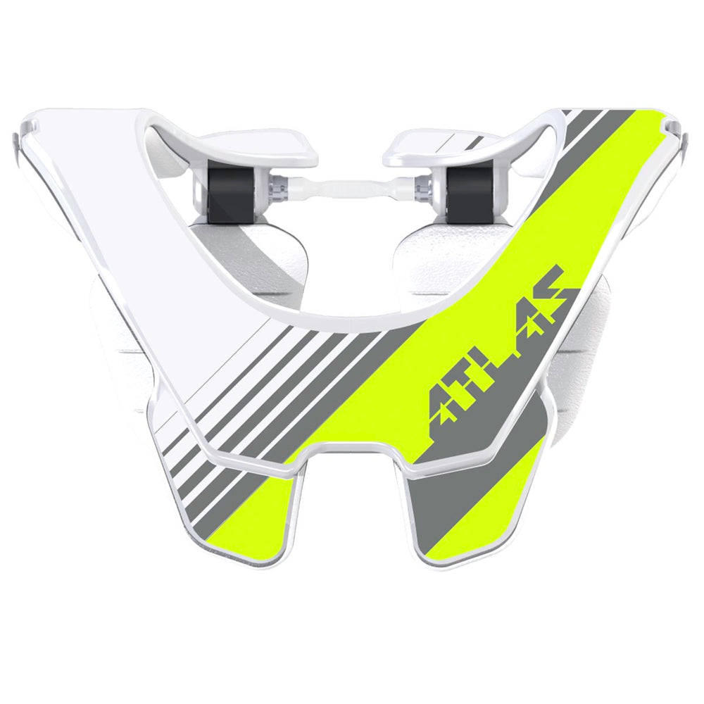 Atlas Prodigy Race Neck Brace-Acid Grey/White
