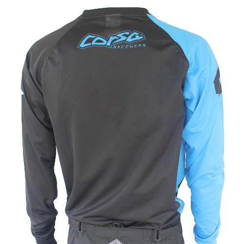 Corsa Warrior X Race Jersey-Black/Blue
