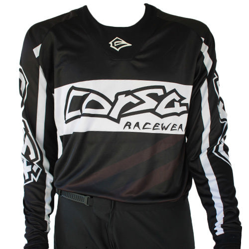 Corsa Unleashed Jersey-Black/White