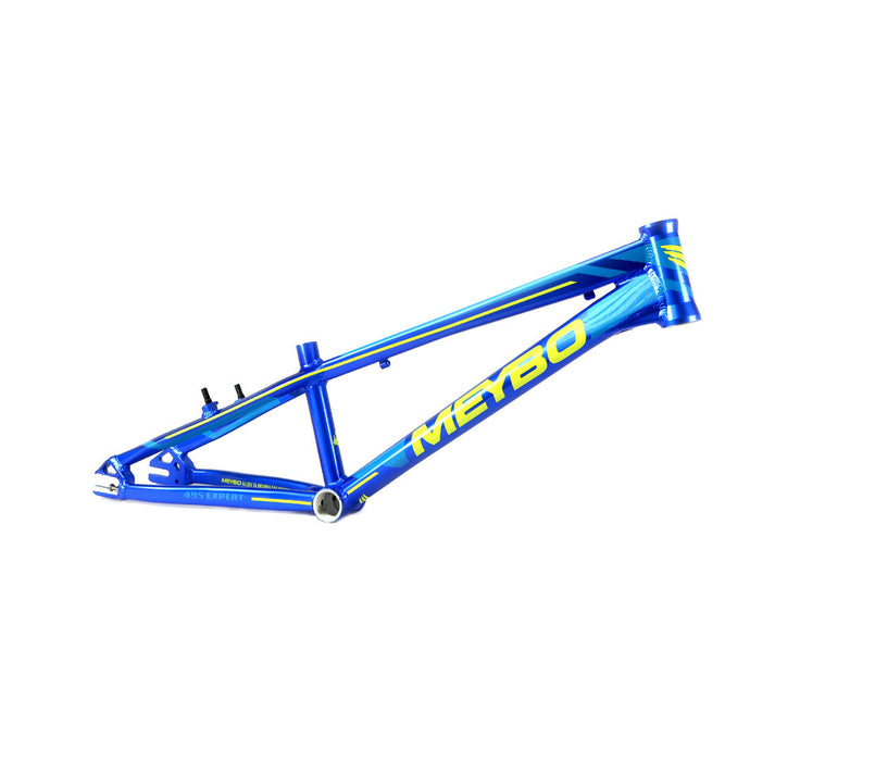Meybo 2018 Holeshot Aluminum BMX Race Frame - Blue/Lime Green/Light Blue