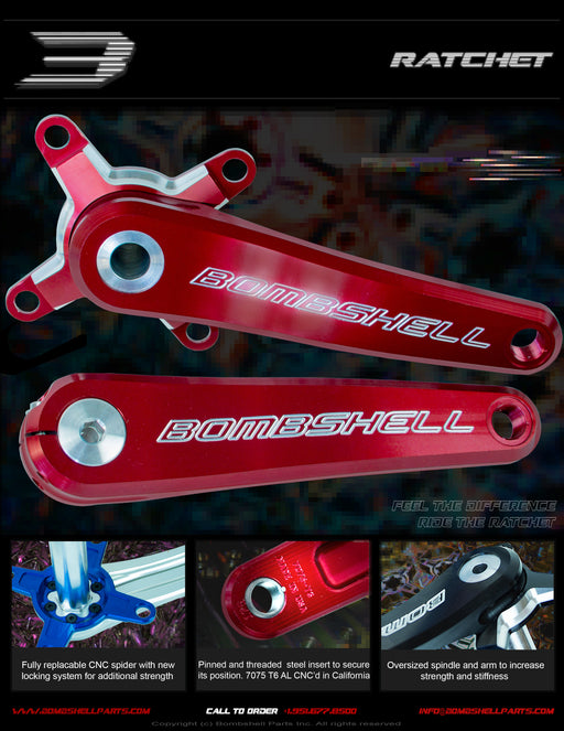 Bombshell Ratchet 2pc Cranks