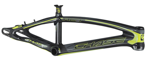 Chase Act 1.0 Carbon BMX Race Frame-Gloss Black/Neon Yellow