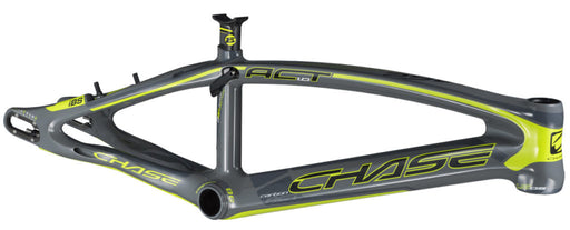 Chase Act 1.0 Carbon BMX Race Frame-Gloss Grey/Neon Yellow