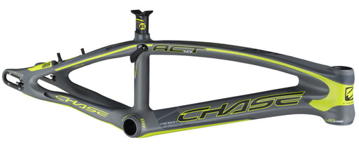 Chase Act 1.0 Carbon BMX Race Frame-Matte Grey/Neon Yellow