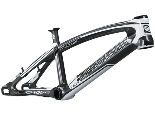 Chase ACT 1.0 Carbon BMX Race Frame-Shiny Black/White