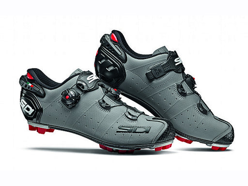 Sidi 2019 Drako 2 SRS Clipless Shoes-Grey/Black Side View