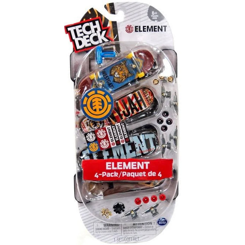 Tech Deck Mini Skateboard-Element Series 2-4 Pack