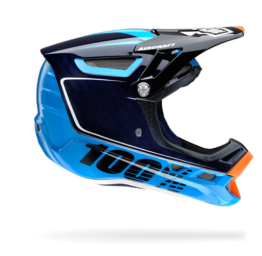 100% Aircraft Downhill Helmet-Bi-Turbo Blue  - J&R Bicycles BMX Super Store