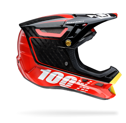 100% Aircraft Downhill Helmet-Bi-Turbo Red  - J&R Bicycles BMX Super Store
