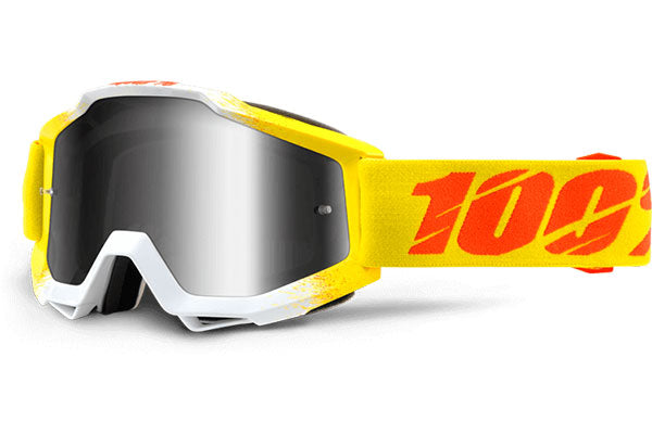 100% Accuri Moto Goggles-Zest-Mirrored Silver Lens  - J&R Bicycles BMX Super Store