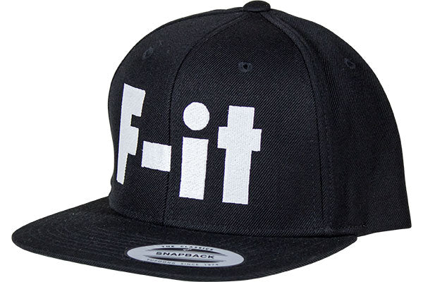 Fit Snapback Big F-IT Hat-Black