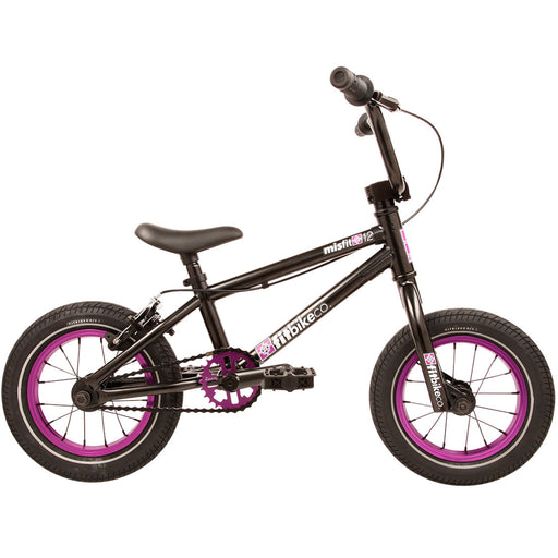 "Fit 2020 Misfit 12"" BMX Bike-ED Black/Purple"