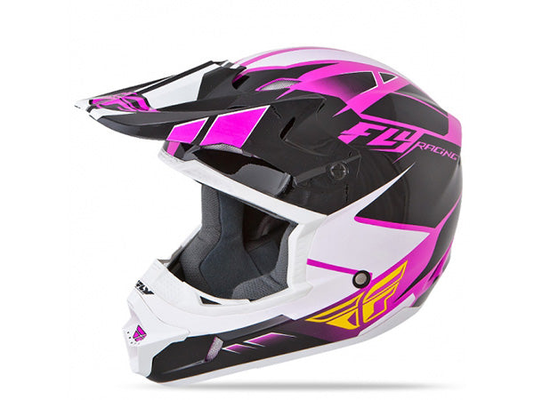 FLY Racing Kinetic Impulse Helmet | PINK/BLACK/WHITE