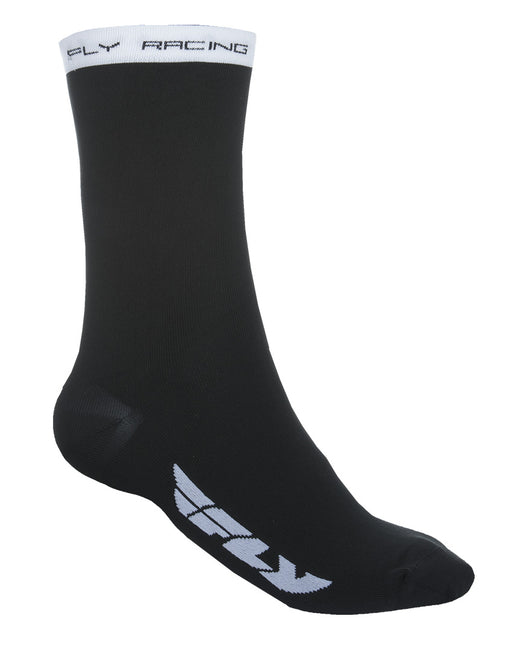 Fly Racing 2018 Crew Socks Black/White