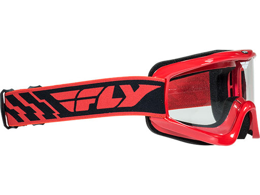 Fly Racing Focus Goggle-Youth-Red-Clear Lens