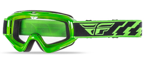 Fly Racing Focus Goggle-Adult-Green-Clear Lens