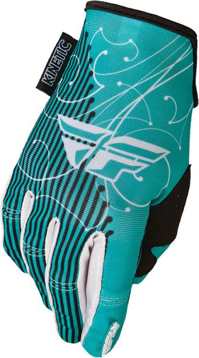 Fly Racing Kinetic Ladies Gloves-Teal/White