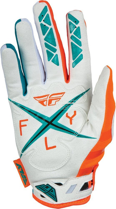 Fly Racing 2015 Kinetic Gloves-Teal/Orange Palm