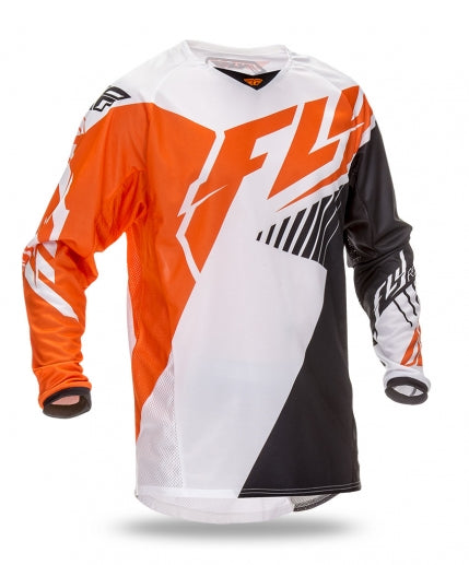 Fly Racing 2016 Kinetic Vector Jersey-Fluorescent Orange/White/Black