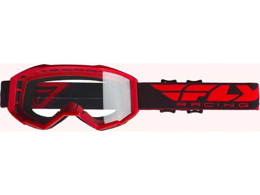 Fly Racing 2019 Focus Goggles w/ Clear Lens-Red/Clear