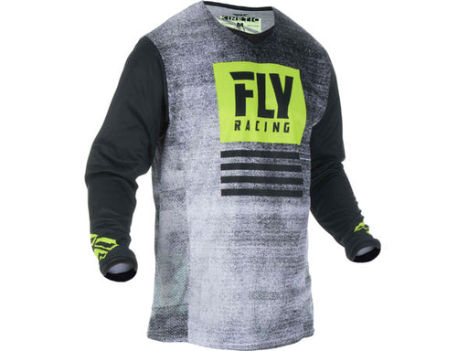 Fly Racing 2019 Kinetic Noiz Jersey-Black/Hi-Vis Front View