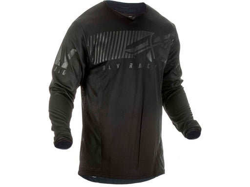 Fly Racing 2019 Kinetic Shield Jersey-Black Front View