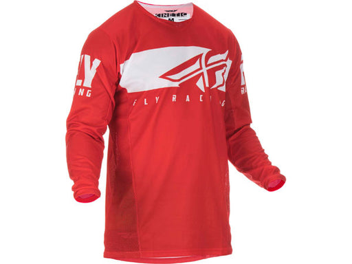 Fly Racing 2019 Kinetic Shield Jersey-Red/White Front View