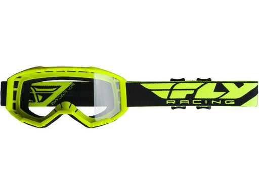 Fly Racing 2019 Youth Focus Goggles-Hi-Vis Yellow