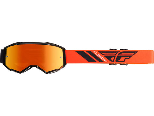 Fly Racing 2019 Youth Zone Goggles-Orange Mirror/Smoke