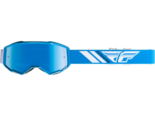Fly Racing 2019 Youth Zone Goggles-Sky Blue Mirror/Smoke