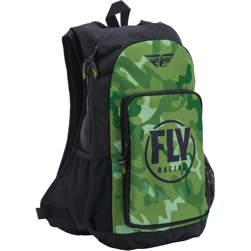 Fly Racing Jump Pack Backpack- Green/Black Camo