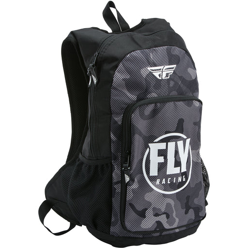 Fly Racing Jump Pack Backpack- Black/Grey/White Camo