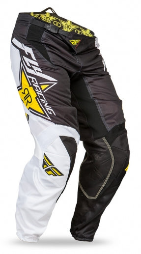 Fly Racing Kinetic Vector Mesh Pants-Rockstar Yellow/White