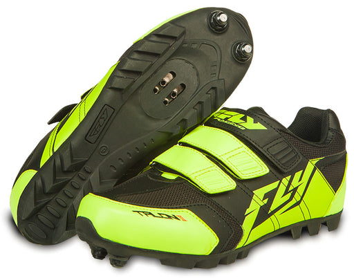 Fly Racing Talon II Clipless Shoes-Black/Hi Vis Yellow