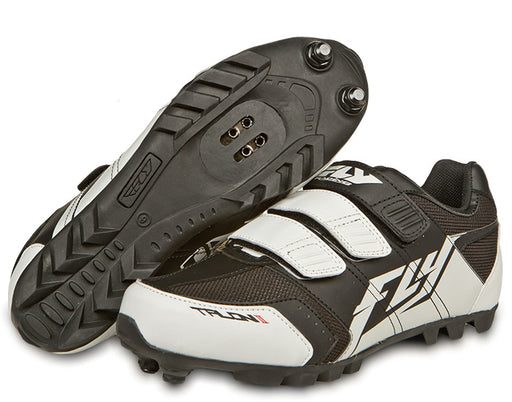 Fly Racing Talon II Clipless Shoes-Black/White