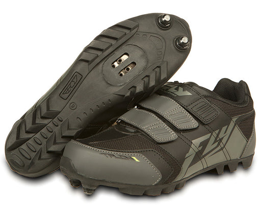 Fly Racing Talon II Clipless Shoes-Black/Gray