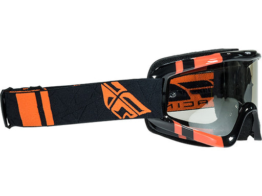 Fly Racing Zone Goggle-Youth-Black/Orange-Flash Chrome Lens