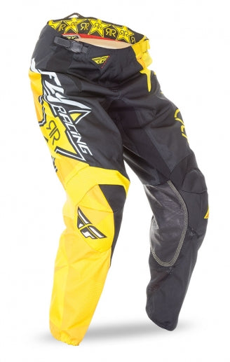 Fly Racing 2016 Kinetic Pants-Rockstar Black/Yellow