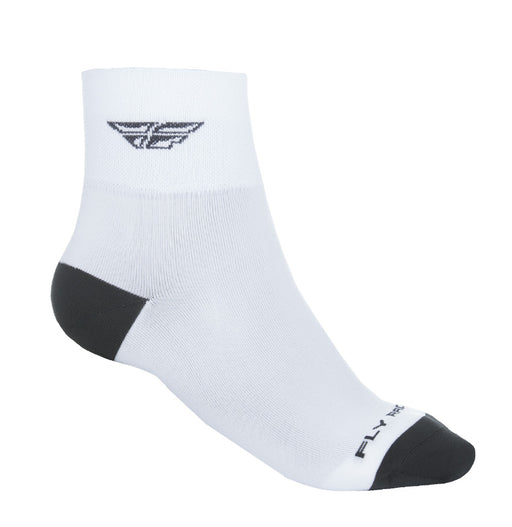 Fly Racing 2018 Shorty Socks White/Black