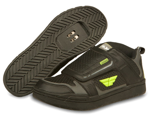 Fly Racing Transfer Shoe-Black/Hi-Vis Yellow